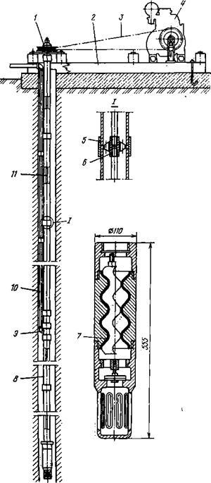 Схема установки водоподъемника